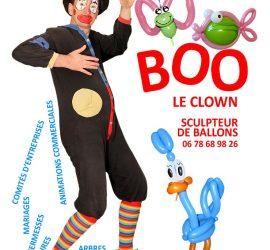 carte postale boo le clown